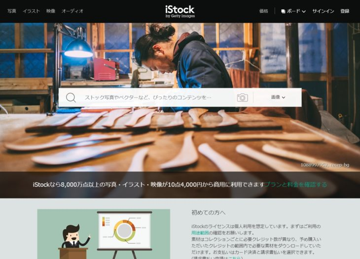 おすすめの有料写真素材サイト「iStock」